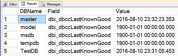 Last_Known_Good_CheckDB